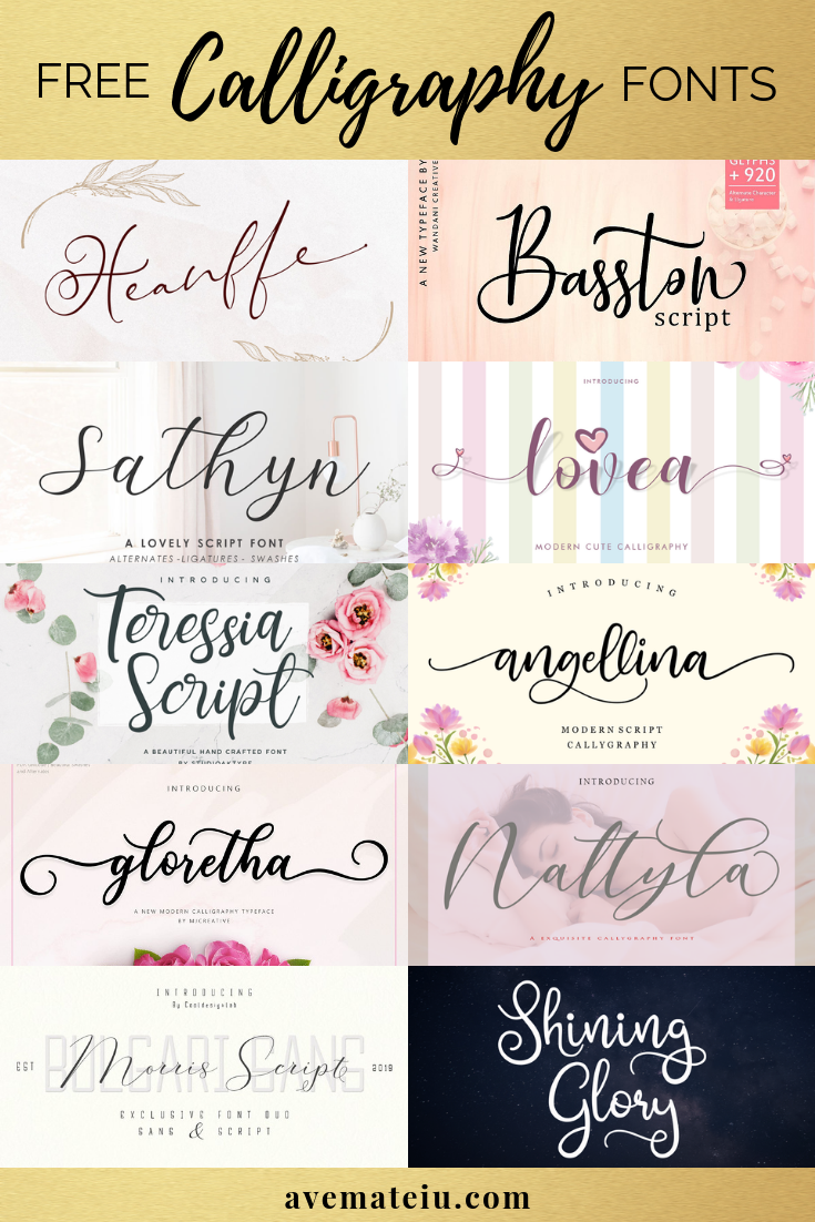 10 New Free Calligraphy Fonts - Art, Fonts and Calligraphy, Typography, Handwritten Fonts, Alphabet Fonts, Free Fonts, Script Fonts, Modern Fonts, Cursive Fonts, Design Fonts, Rustic Fonts, Calligraphy Fonts, Simple Fonts, Serif Fonts, Elegant Fonts, Professional Fonts, Beautiful Fonts