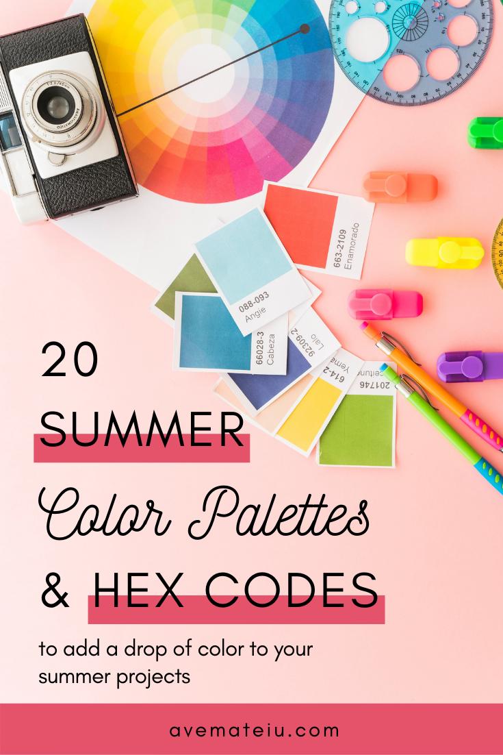 20 Summer Color Palettes and Hex Codes - color combination, color inspiration, color palette, color palettes, color scheme, color schemes, design, Fashion, hex codes, pantone summer color palette, summer color palettes